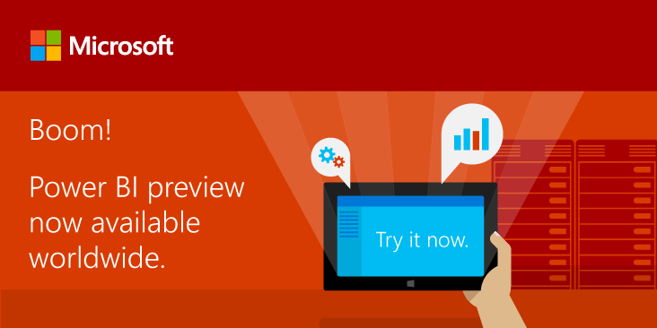 The @MSPowerBI preview has gone global! Now available in 140 markets around the world: http://t.co/X4kLJW5ok9 http://t.co/w6TI7aowgk
