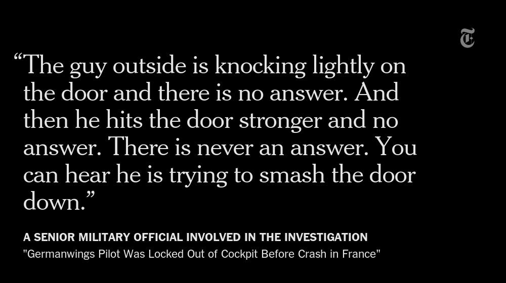 Germanwings pilot was locked out of cockpit before crash in France http://t.co/xG1JME4w2R http://t.co/8S40mnNITK