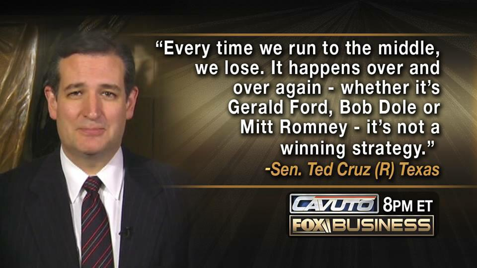 MT @CNM_Michael: 'Every time we run to the middle we lose. It happens over & over again' ~Ted Cruz https://t.co/yPkaVU3qKl #CruzCrew #PJNET