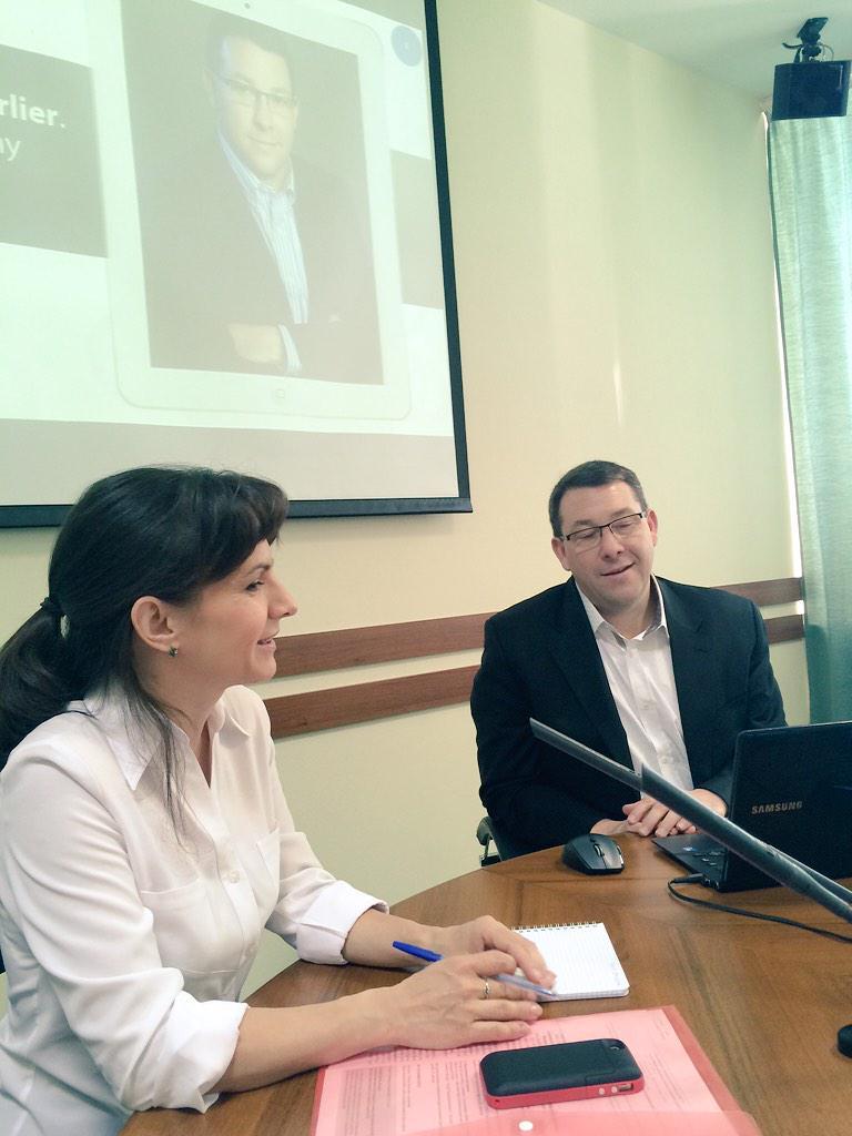 Два Стива Шарлье, мы начинаем наш семинар по трансформации журналистского образования #mmperm #сми http://t.co/p93oZuDiMP