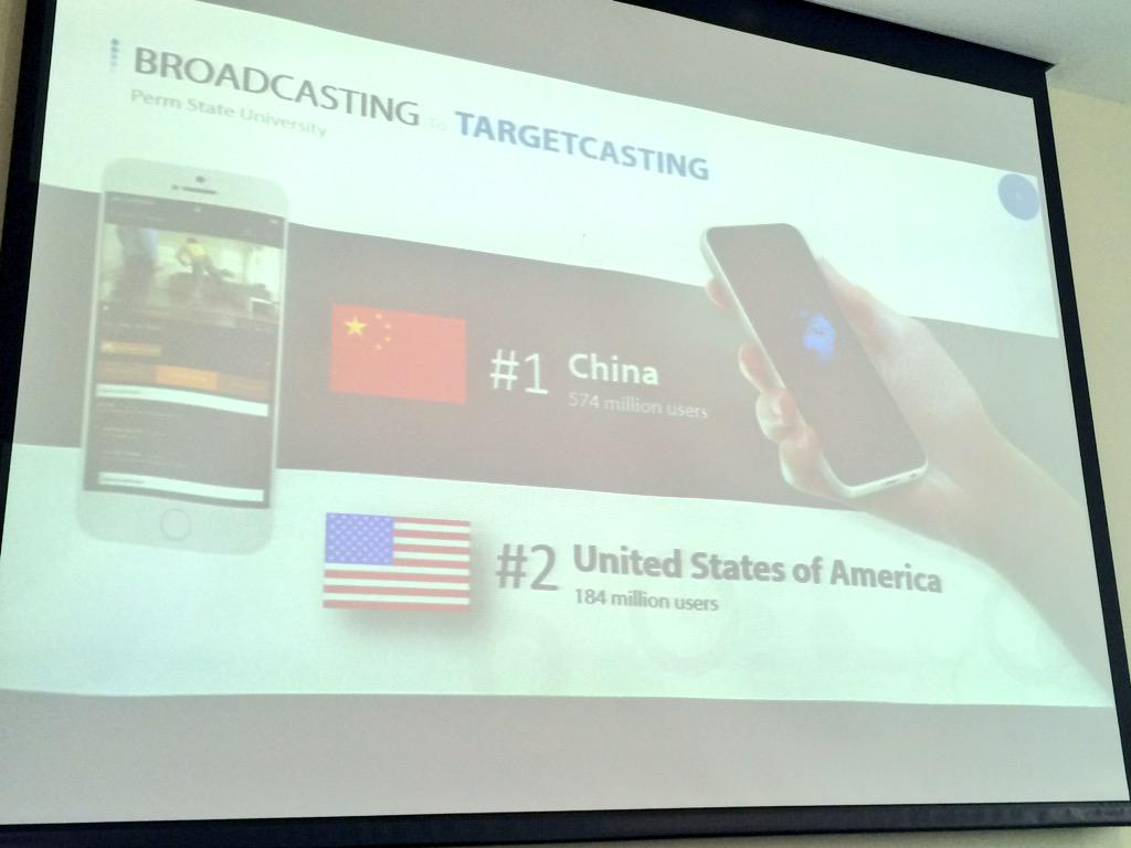 По прогнозам Стива Шарлье в этом году Россия войдет в тройку пользователей смартфонов в мире #mmperm http://t.co/nJ5hWq5Mki