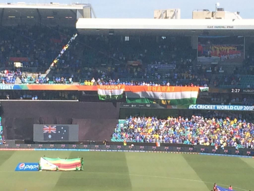Contender for biggest banner of the tournament? #INDvAUS http://t.co/elzmAO2SOo