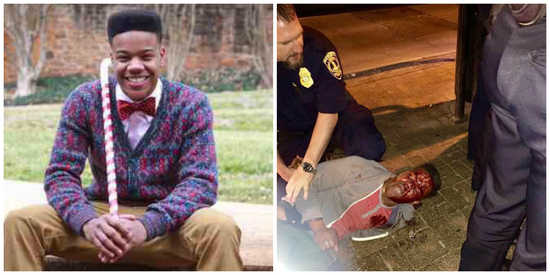 University of Virginia honors student, Martese Johnson, brutally and unjustly beaten by police http://t.co/fuglhB8JkE http://t.co/rkurA4wCrV