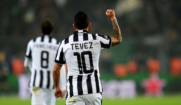 Champions: Tevez fa innamorare la Juventus in Germania