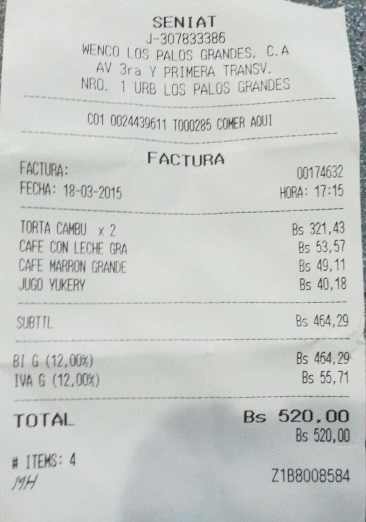 """""""@leoalvarez: Una meriendita sencilla de medio millón de bolívares http://t.co/TG239r7dh6"""" #EnTierraDigna"""
