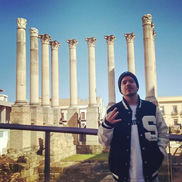 Here's @RAPSUSKLEI1 rocking the Mace jacket at the Roman Temple of Córdoba…standard. http://t.co/A0jMfK1c9v http://t.co/GM8W7j8dm9