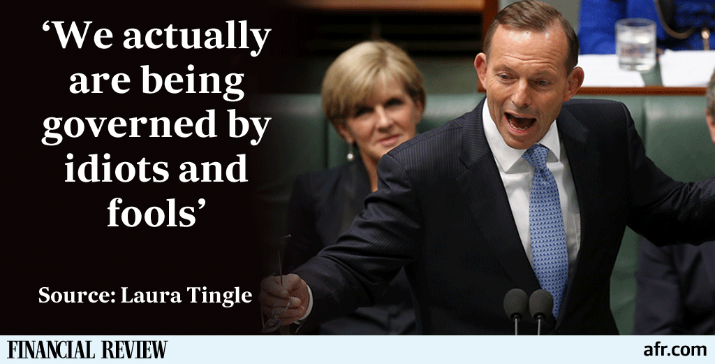 Our PM has lost his bundle making calls that go beyond reckless, writes @latingle #auspol  http://t.co/343Rvto5GO http://t.co/BvlHjPgdMi