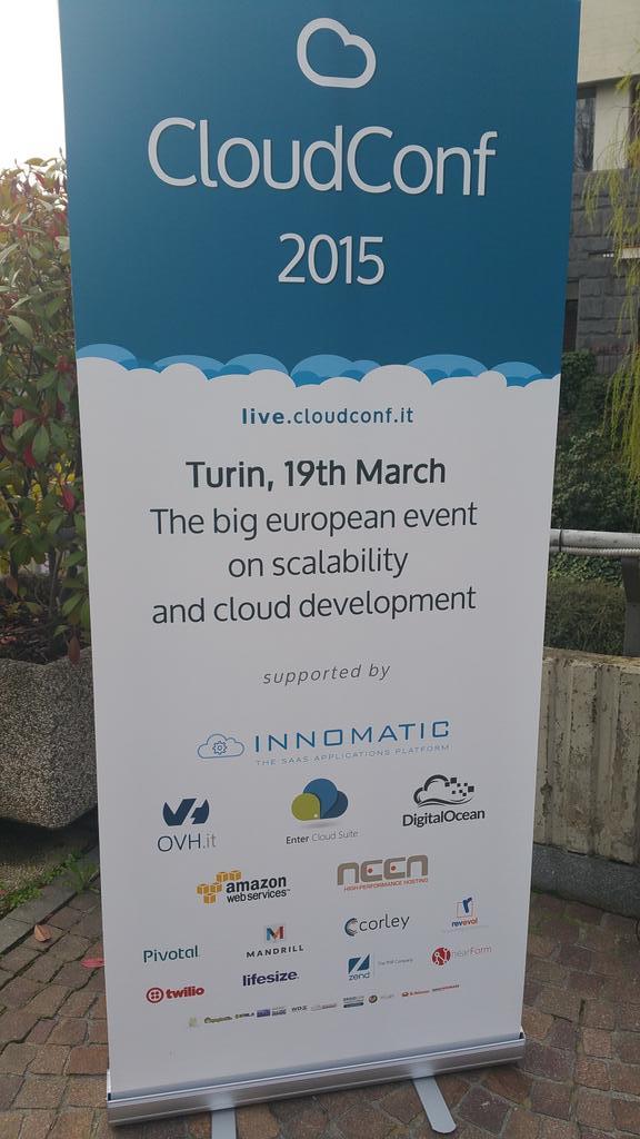 #Cloudwars #cloudconf2015 @_CloudConf_ noi ci siamo... http://t.co/EBpOTI6CiJ