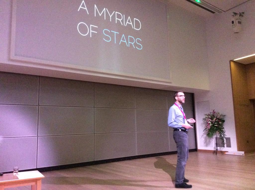.@mreidsma revealing that astronaut John Glen's 'myriad of stars' was actually his own urine #UXLibs http://t.co/ylO5L6pcAq