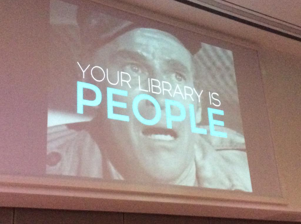 THIS!: 'Your library is people all the way down' @mreidsma #UXLibs http://t.co/h9m6J5eaBH