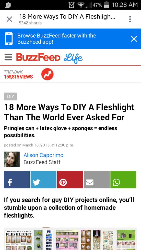 Cindy Danko Southey On Twitter 18 More Ways To Diy A Fleshlight