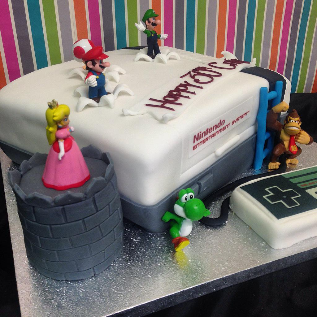 Prime Hughes Family Bakers On Twitter Nintendo Birthday Cake Bakery Funny Birthday Cards Online Alyptdamsfinfo