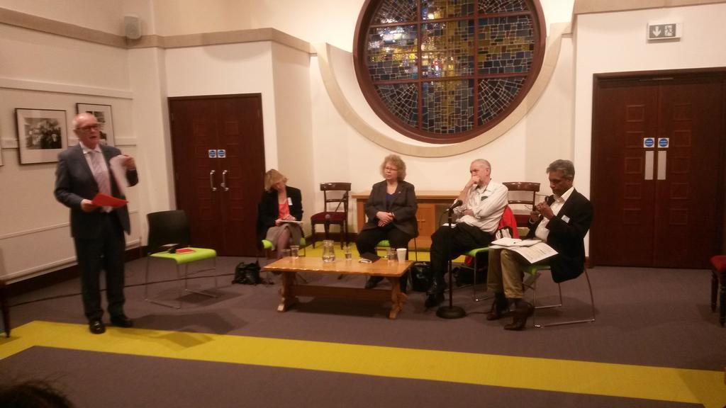 Speakers at the Harecourt Conversation on migration being introduced #votebelief @Ekklesia_co_uk http://t.co/hhlqAIrrmn
