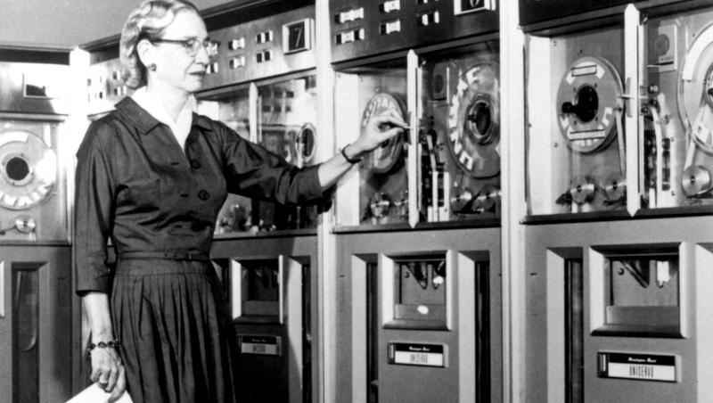 "#TBT In 1952, Grace Hopper, one of the unsung heroes of #WomeninTech, invented the first ""compiler"" http://t.co/ODsp8cjrqP"