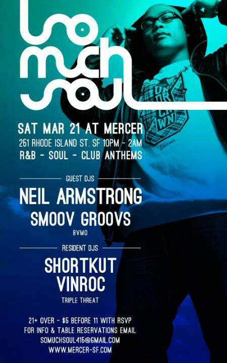 Sat at Mercer SF!  @djneilarmstrong @smoovgroovs w/residents @shortkut Tables somuchsoul415@gmail.com http://t.co/lvwxEdCaB1