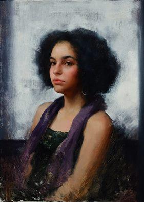 'Mariah,' oil by Marci Oleszkiewicz, at Gallery Russia at Scottsdale ArtWalk. @ArtMags: https://t.co/MdtjJ85lip #art http://t.co/xWUyAN824V