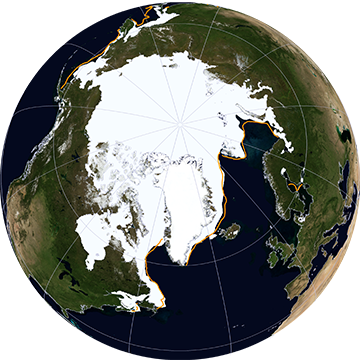 2015 #Arctic sea ice maximum was the lowest on satellite record. http://t.co/jTgGUoCo5u http://t.co/Yc4QOZY6IU
