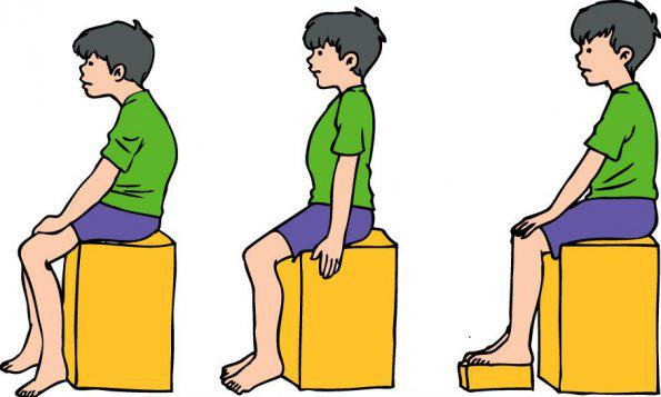 Cuidados com postura de crianças e jovens