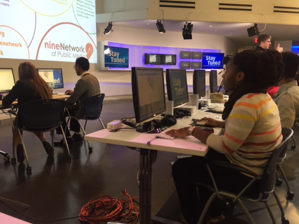McCluer North video production students in the audience @StayTunedSTL follow their tweets #StayTunedSTL http://t.co/esRGumQ7zs