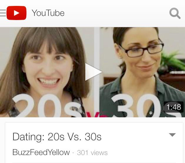 Buzzfeed dating 20s vs 30s video
