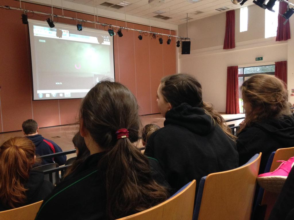 All Year 7 watching the eclipse 2015 on bbc and through our live feed to show the eclipse from Leeds. #eclipse2015