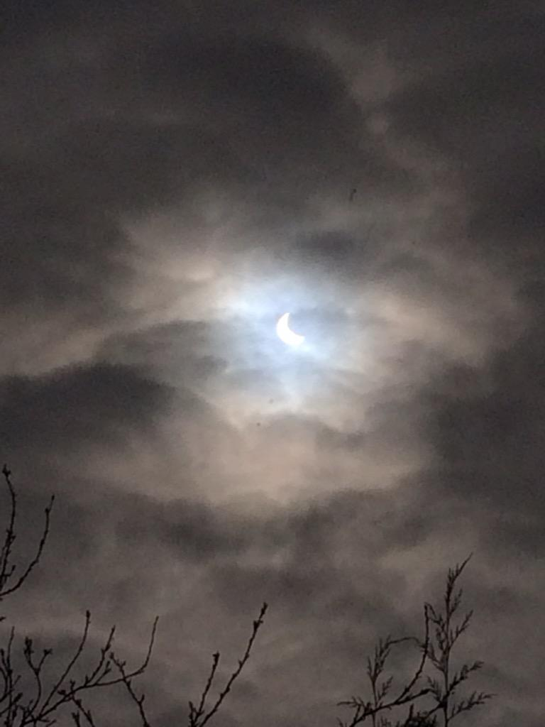 Cheers God, for this hole in the clouds #eclipse2015 http://t.co/gf3dAI2ajf