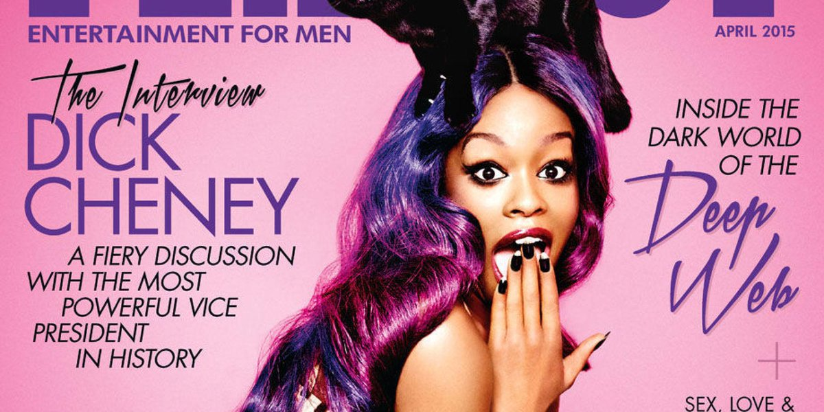 Playboy : Azealia Banks Playboy cover cat meow ...