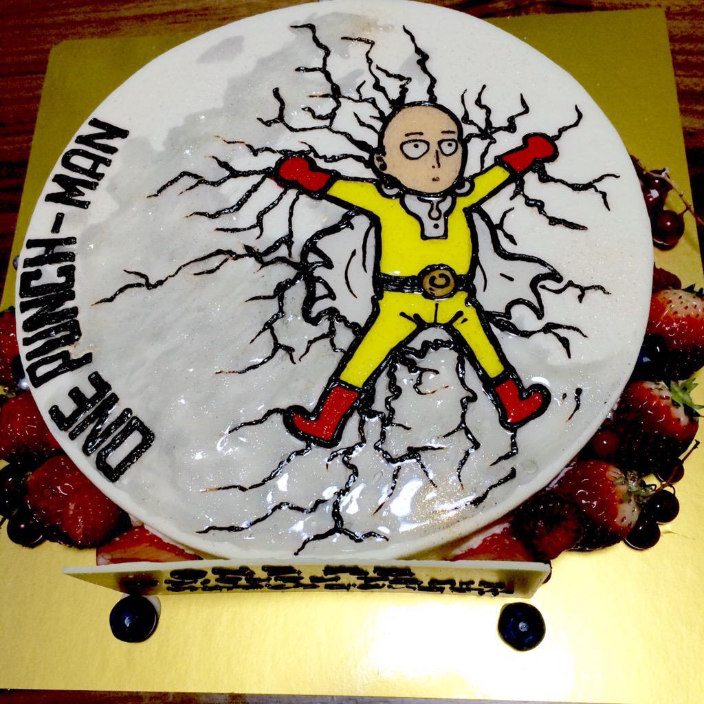 ヤバすぎるワンパンマンケーキ画像!今夜渋谷ユーロスペース21時〜モブサイコ100のTVCM作った賢者の代表であるkoyaの修了制作が観られます!是非、爆音でヤバすぎ音楽体験アニメーションを!http://t.co/qvJwajA4Vh http://t.co/MhPctgaD1v
