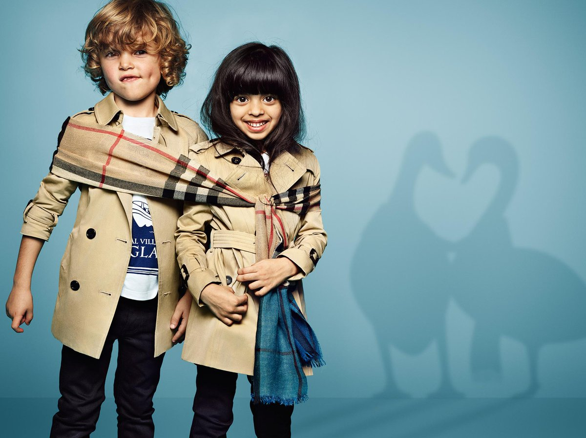 """8f080bee8 """"@Burberry: The @Burberry childrenswear campaign, featuring Heritage trench  coats and scarves for boys and girls pic.twitter.com/WCxMQhZwAw"""""""