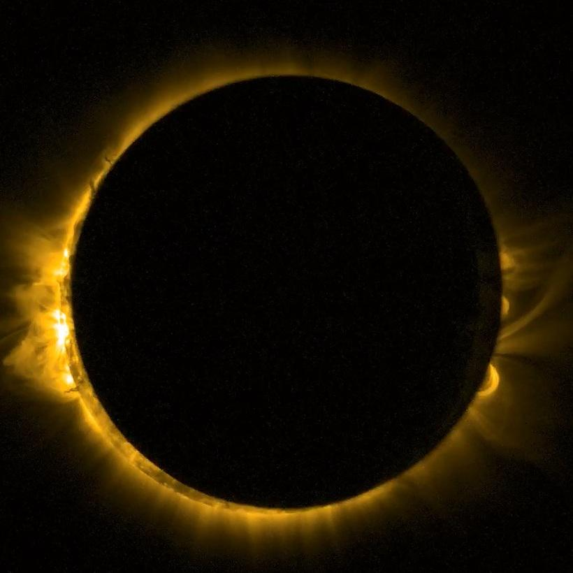 WOW! #Sonnenfinsternis #ESA #Proba-2 http://t.co/E0UmtNRCJR