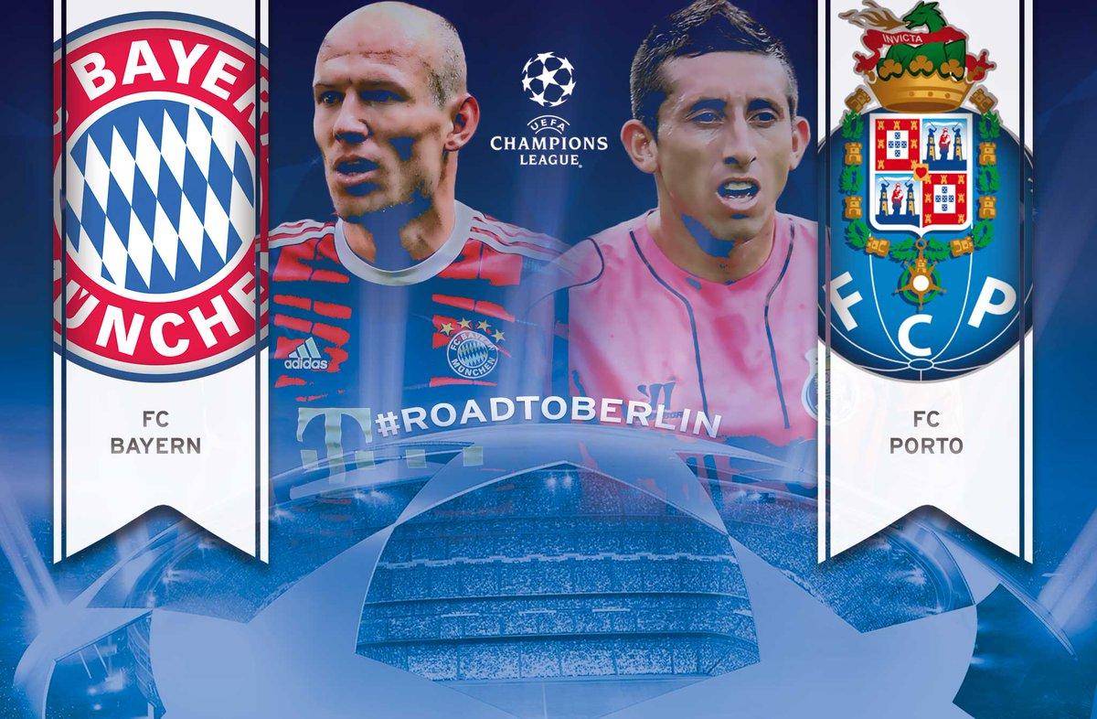 Der #FCBayern spielt zunächst in Porto (14./15. April), Rückspiel in der #AllianzArena am 21./22. April. #FCBFCP