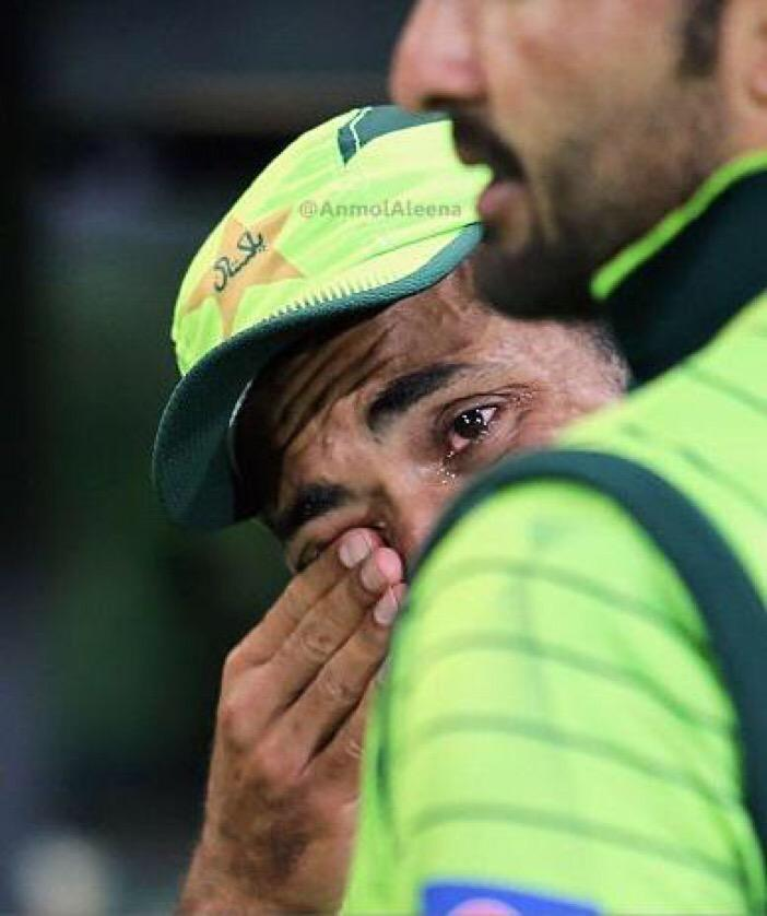 """You guys @mahaaaak_ @KiranxAnjum RT """"@Hassoo84: Tears in Wahab's eyes. The only guy who turned up for Pakistan today http://t.co/N4GOBPmEoD"""