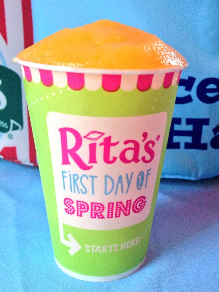 Happy First Day of Spring!! Celebrate with FREE Ice...the delicious kind! Open noon - 9pm! #RitasFirstDayofSpring http://t.co/483Kg0i0Be