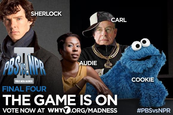 Game on! Who will represent @PBS & @NPR in the final match? Vote for our Final 4 at http://t.co/s3BliDpXEk! #PBSvsNPR http://t.co/BzkLjKnw6d