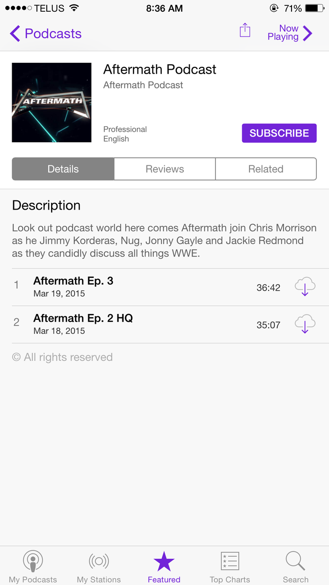 @jimmykorderas @Nug13 @Jackie_Redmond aftermath podcast is now in iTunes http://t.co/LYK6ejZbT0