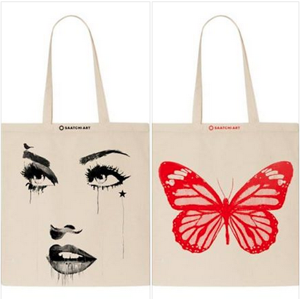 On Wed. 3/25 during the #AAFNYC Private View, @SaatchiArt will be giving away 400 of these lovely live printed totes! http://t.co/kUzPFkNgD0