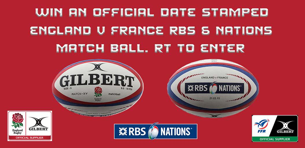 Win a date stamped @EnglandRugby v @FFR_officiel official match ball. Just RT to enter. #GilbertRugby http://t.co/A4b6bV1TYE