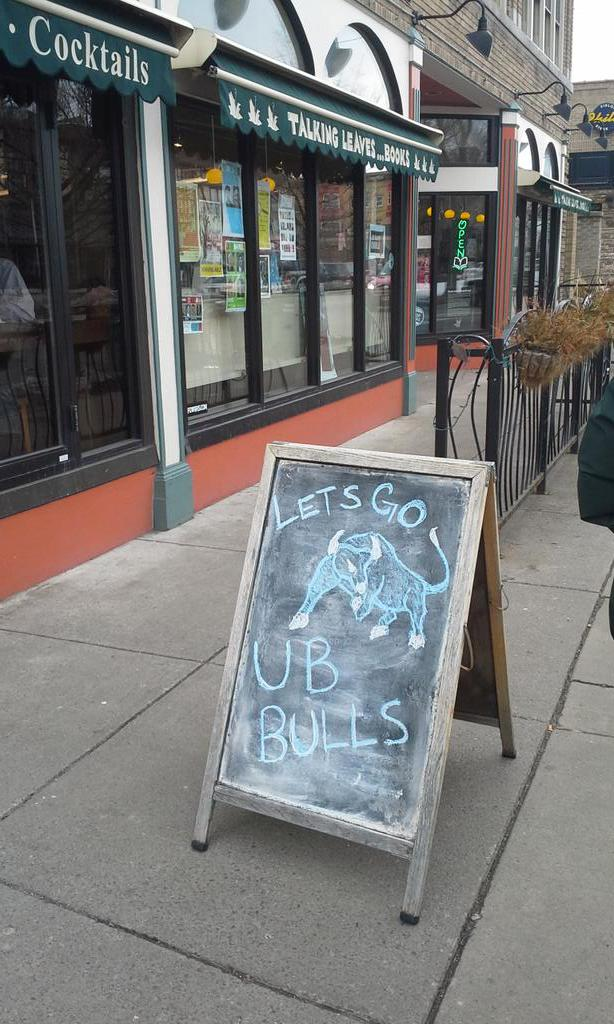 Let's go #UBBulls #UBDancing in the #ElmwoodVillage http://t.co/1bzgDw7JGi