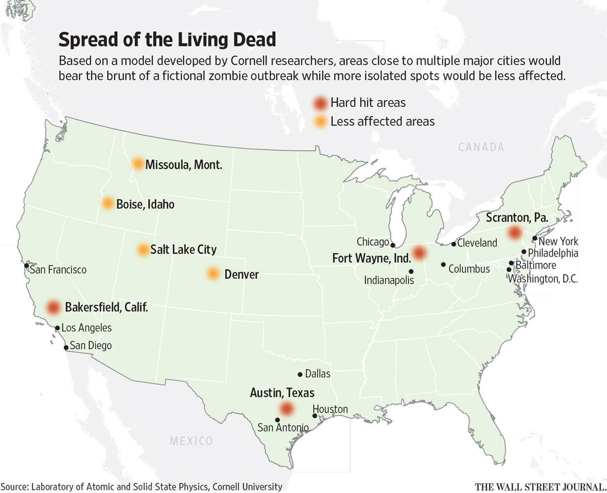 Where to hide during the zombie apocalypse http://t.co/0qcEJ2ClJK via @WSJ http://t.co/42DILid1HE