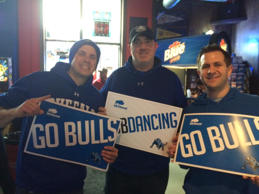 """@UBHonors: It's game day...Go Bulls! #UBDancing #UBBulls #hornsup #UBuffalo http://t.co/etlrRgAnhZ"""
