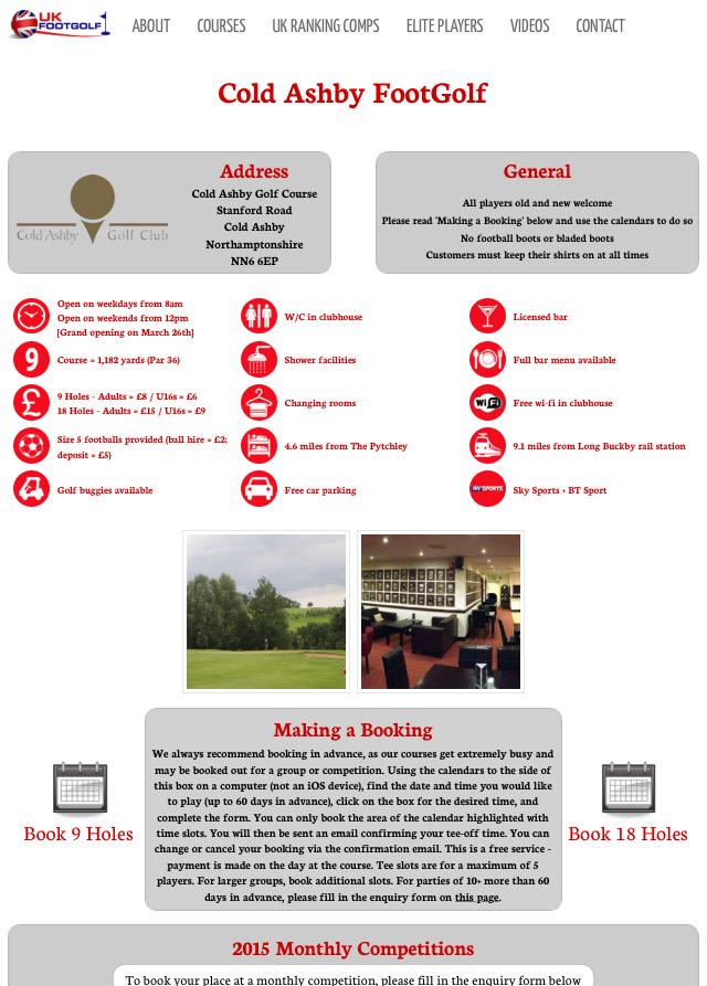Golf Dating sito Web UK