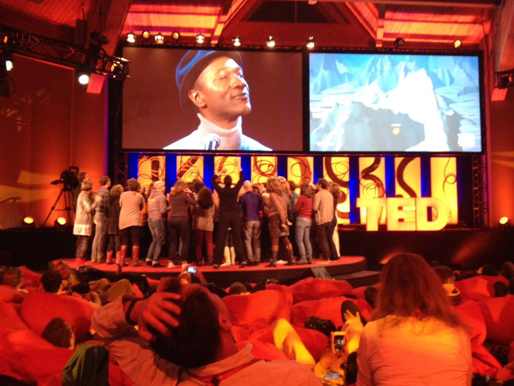 spontaneous dance party on the @TEDActive stage in #whistler #TEDActive #TED2015 to @aloeblacc session http://t.co/NMOd2OetHy
