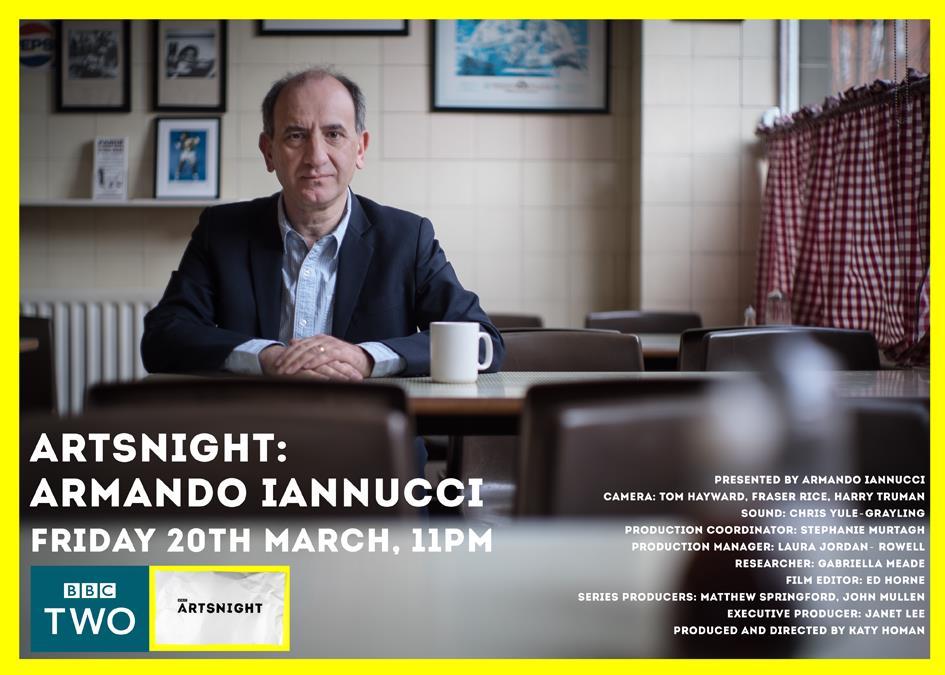 In tonight's #Artsnight Armando Iannucci talks to @katetempest @JRhodesPianist @JosieLong @ApolloMusicLDN 11pm BBC2 http://t.co/c9px8EMIjL