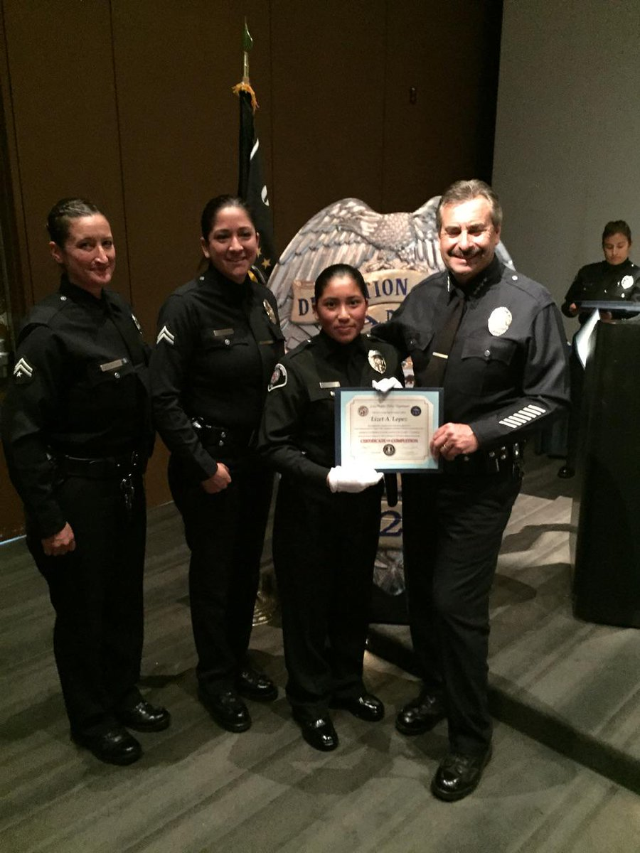 vic davalos on twitter congratulations to lizet lopez former popp student and all the graduates of the lapd detention officer class 1 15