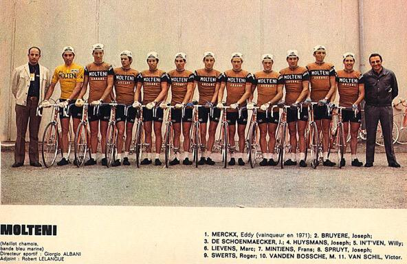Nice to find this picture of my dad at the Tour with the legendary Molteni team @casquetteurs . Great Memories! http://t.co/zpmGzam5if