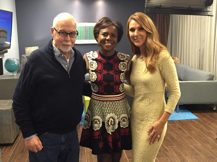 Stay tuned for exclusive with @celinedion about her plans to sing again. She and hubbie Rene-courageous http://t.co/Z3MdNuoS9c