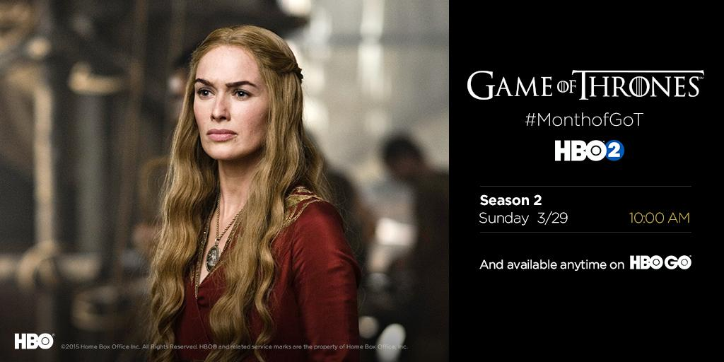 #GoTSeason1 has come to an end. Celebrate #MonthofGoT & relive #GoTSeason2 next Sunday at 10AM on HBO2. #GoT<br>http://pic.twitter.com/WjVxHaRF57