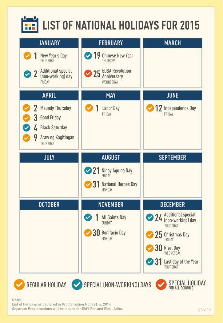 Walangpasok O April 2 3 9 2015 Are Regular Holidays