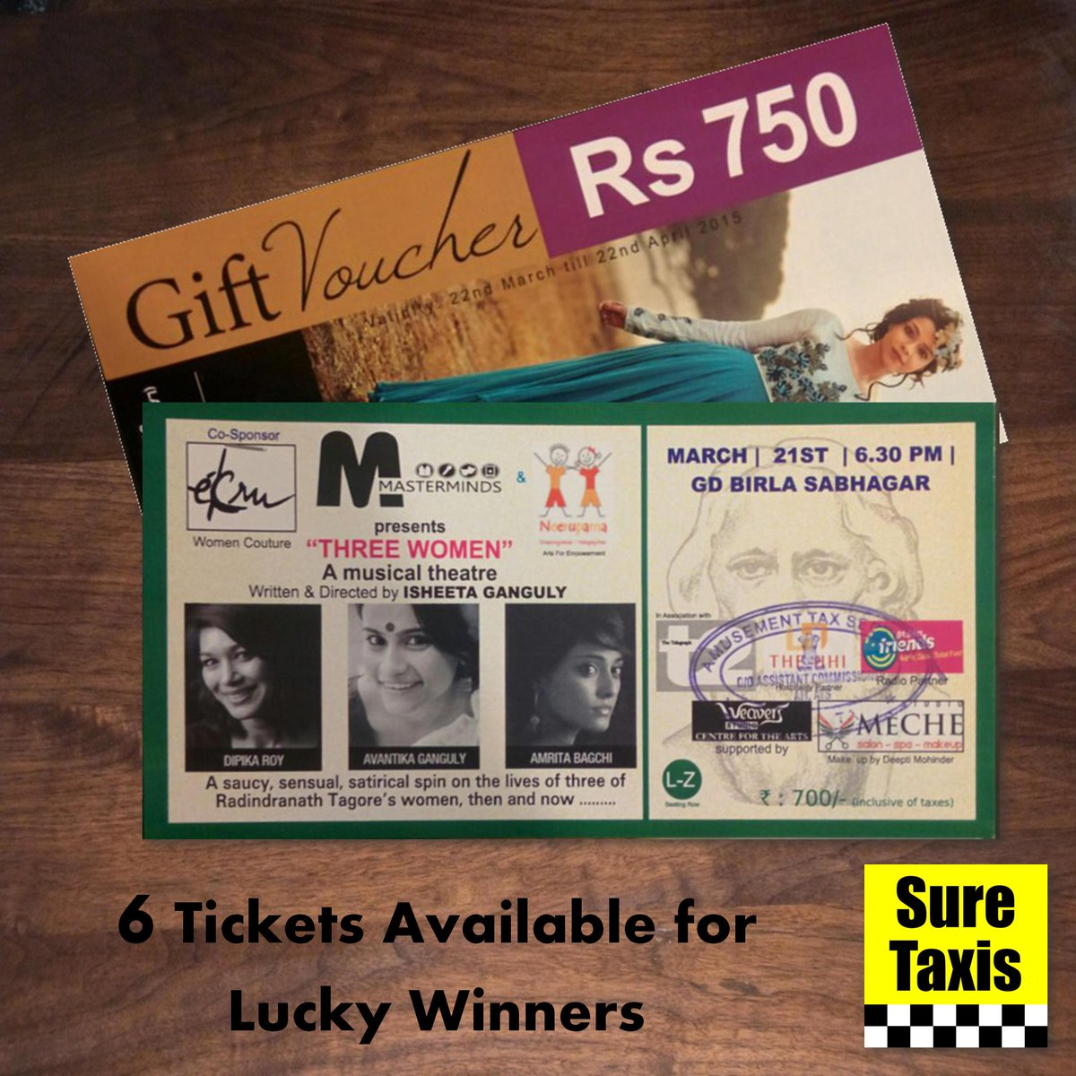Win #free tickets to the play @3threewomen and #vouchers worth ₹750! #Competition ends at 6pm! http://t.co/mDe7Qxsvop http://t.co/Y803ck0LY4