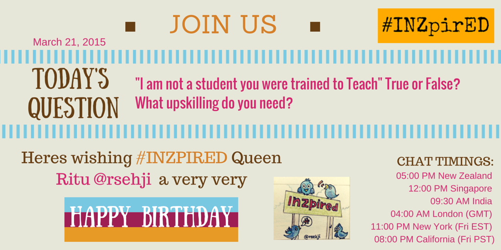 Five minutes to launch of #INZpired & you get to find out if you have the skills to teach today's students. Join us! http://t.co/X0SZhIziFp